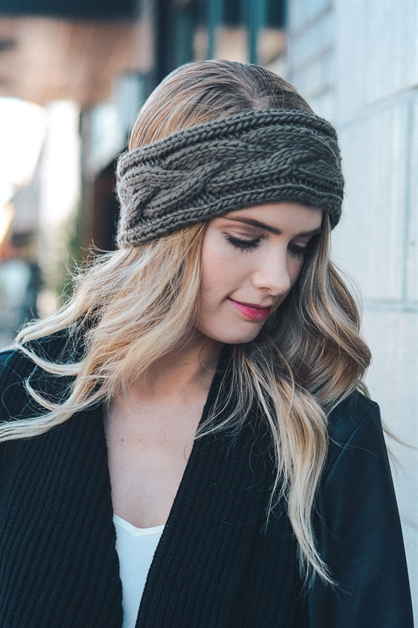 Cable Knit Headband - orangeshine.com