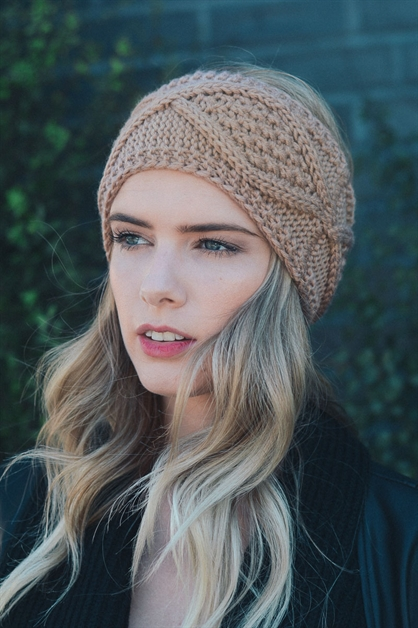 Diamond Stitch Headwrap - orangeshine.com