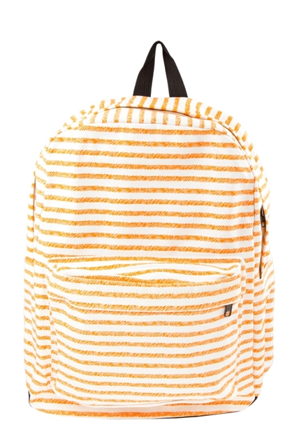 Stripe print outdoor backpack - orangeshine.com