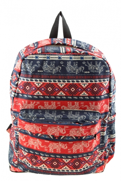 Elephant print outdoor backpack - orangeshine.com