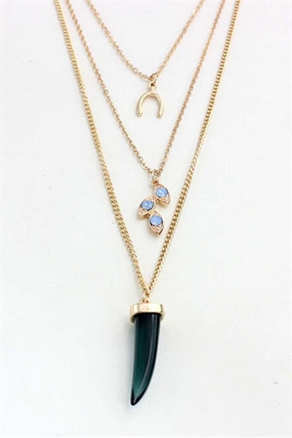 Multi Row Jewel Necklace - orangeshine.com