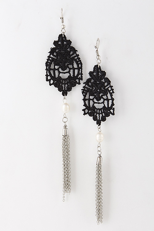 Lacey Hook Earrings - orangeshine.com