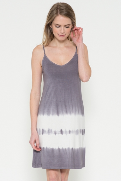 2 Line Tie Dye Dress - orangeshine.com