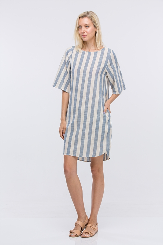 SIDE HIP INSEAM POCKETS DRESS - orangeshine.com