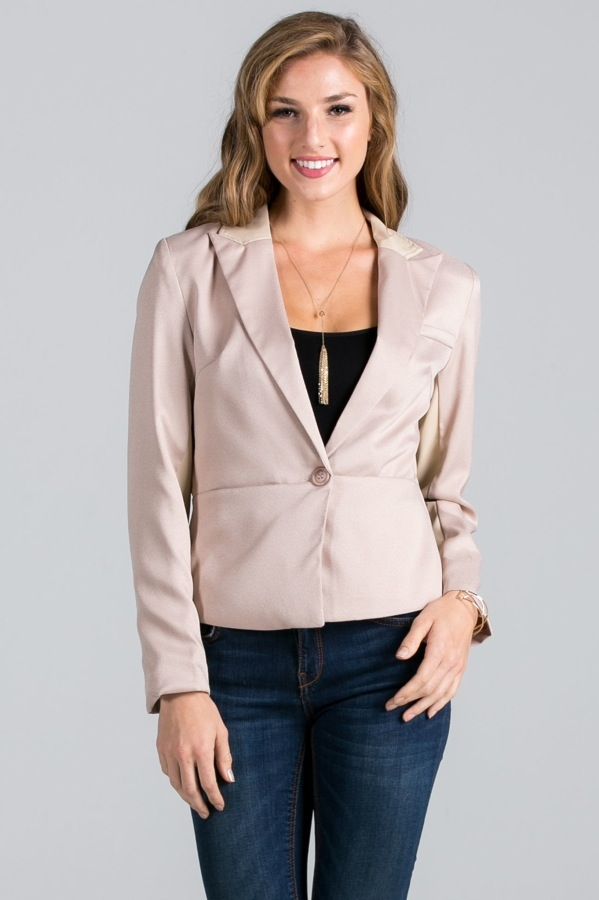 Leather-Paneled Blazer - orangeshine.com