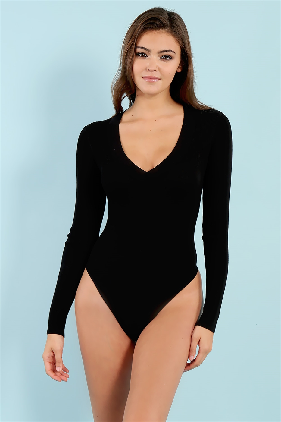 V-neck Bodysuit - orangeshine.com