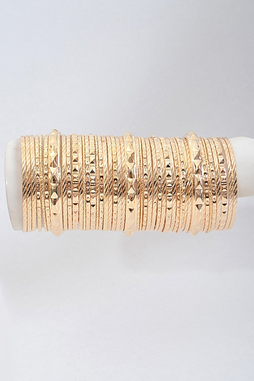 Multiple Mixed Bangle Set - orangeshine.com