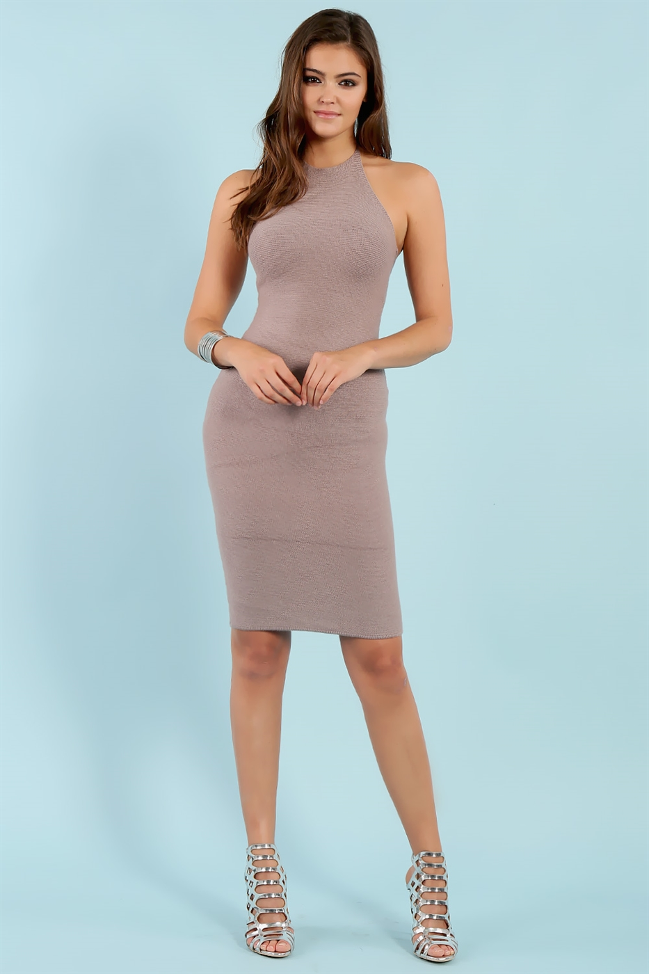 Sweater Halter Dress - orangeshine.com