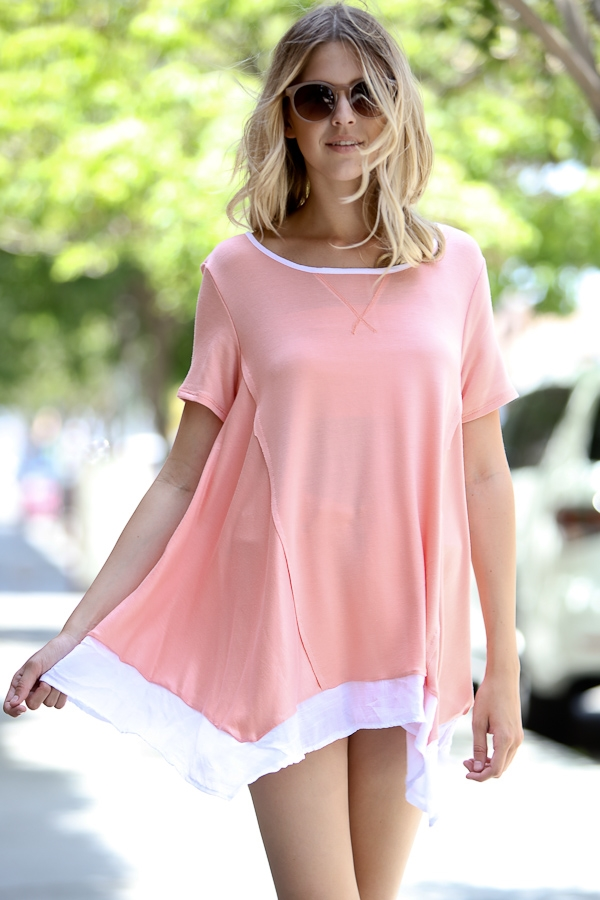 casual round neck top - orangeshine.com