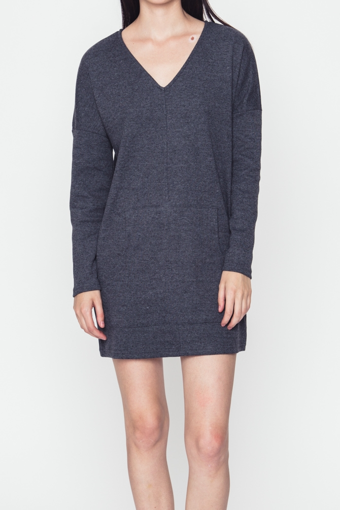 SWEATER PACKET DETAILED DRESS - orangeshine.com