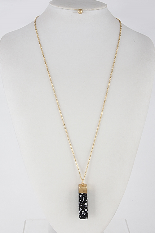 Rectangle Spotted Necklace - orangeshine.com
