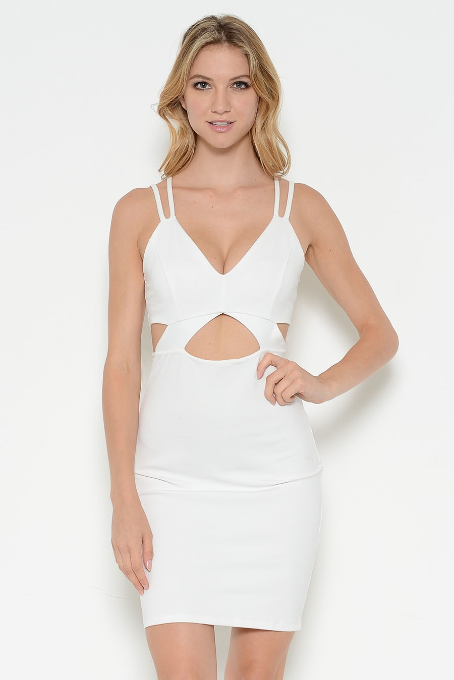 SIDE CUTOUT STRAPPY DRESS - orangeshine.com
