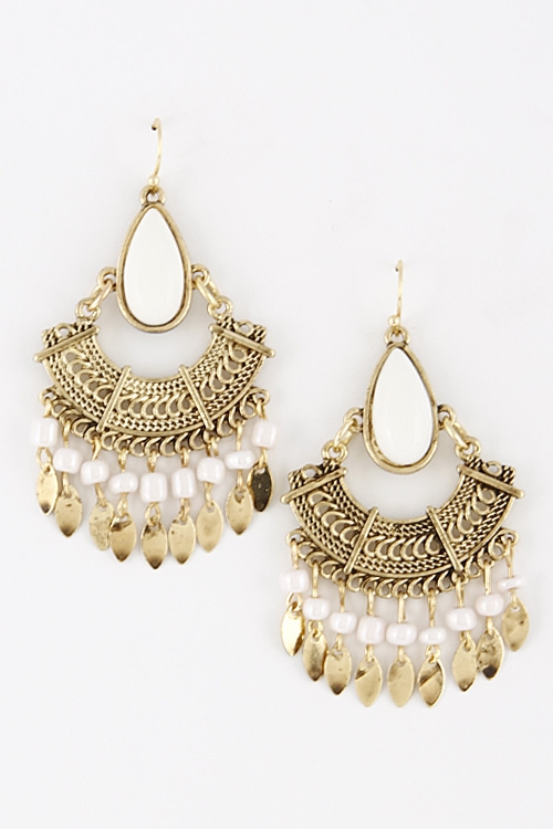 Egypt Inspired Hook Earrings - orangeshine.com