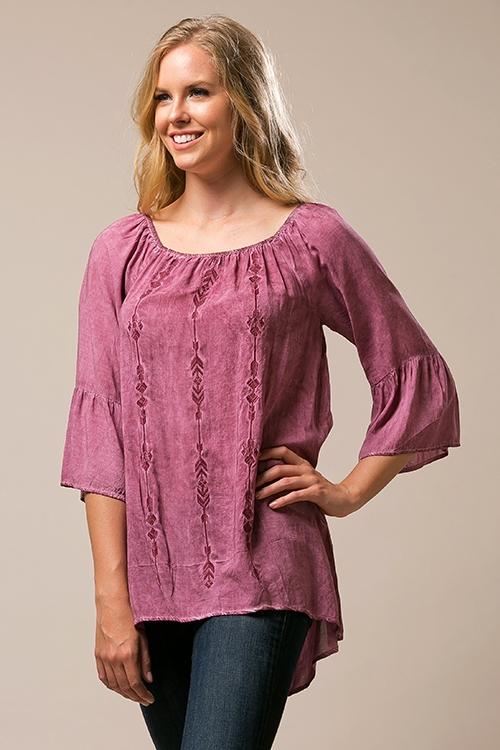 embroidered tunic - orangeshine.com