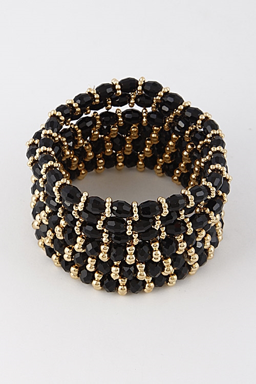 Multi Layered Bead Bracelet - orangeshine.com