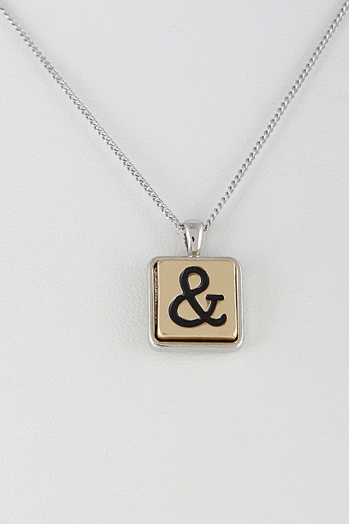 Square Emblem Necklace - orangeshine.com