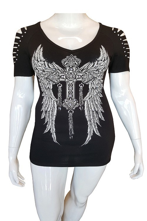 WING CROSS BIKER SEXY TOP PLUS - orangeshine.com