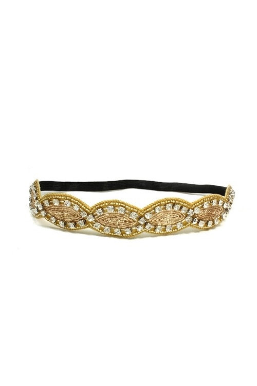 LUREX EMBO AND SEED HEADBAND - orangeshine.com