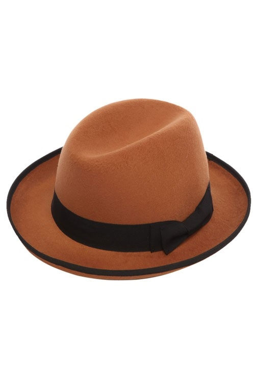 HOMBERG HAT W/RIBBON DETAIL - orangeshine.com