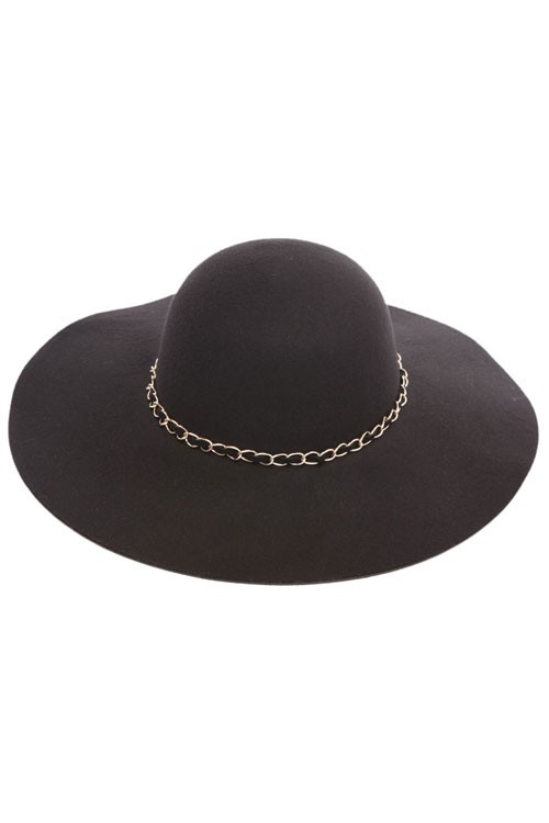 FAUX WOOL FELT FLOPPY HAT - orangeshine.com