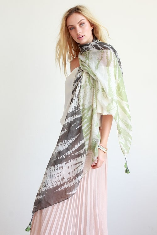 TIE DYE COLOR BLOCK SCARF - orangeshine.com