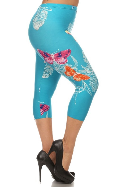 PLUS Print cropped leggings - orangeshine.com