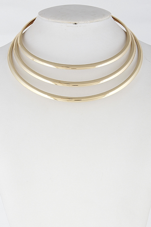 Triple Layer Choker Necklace - orangeshine.com