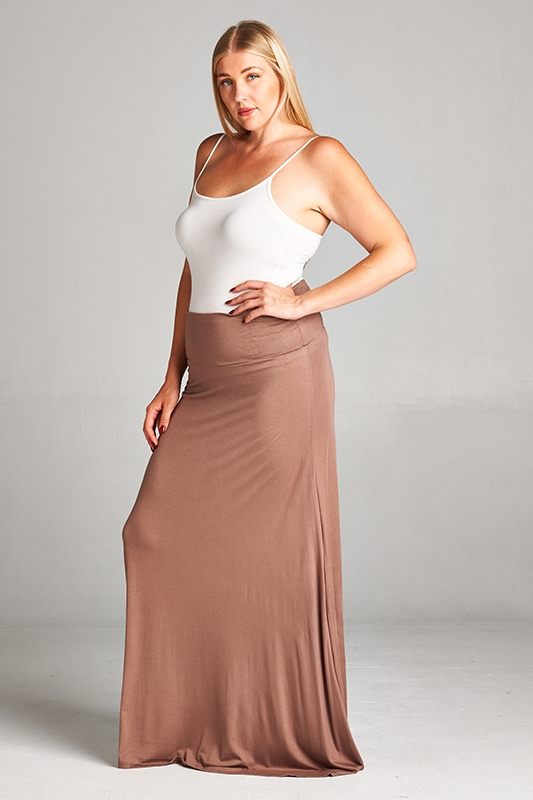 PLUS SIZE MAXI SKIRT - orangeshine.com