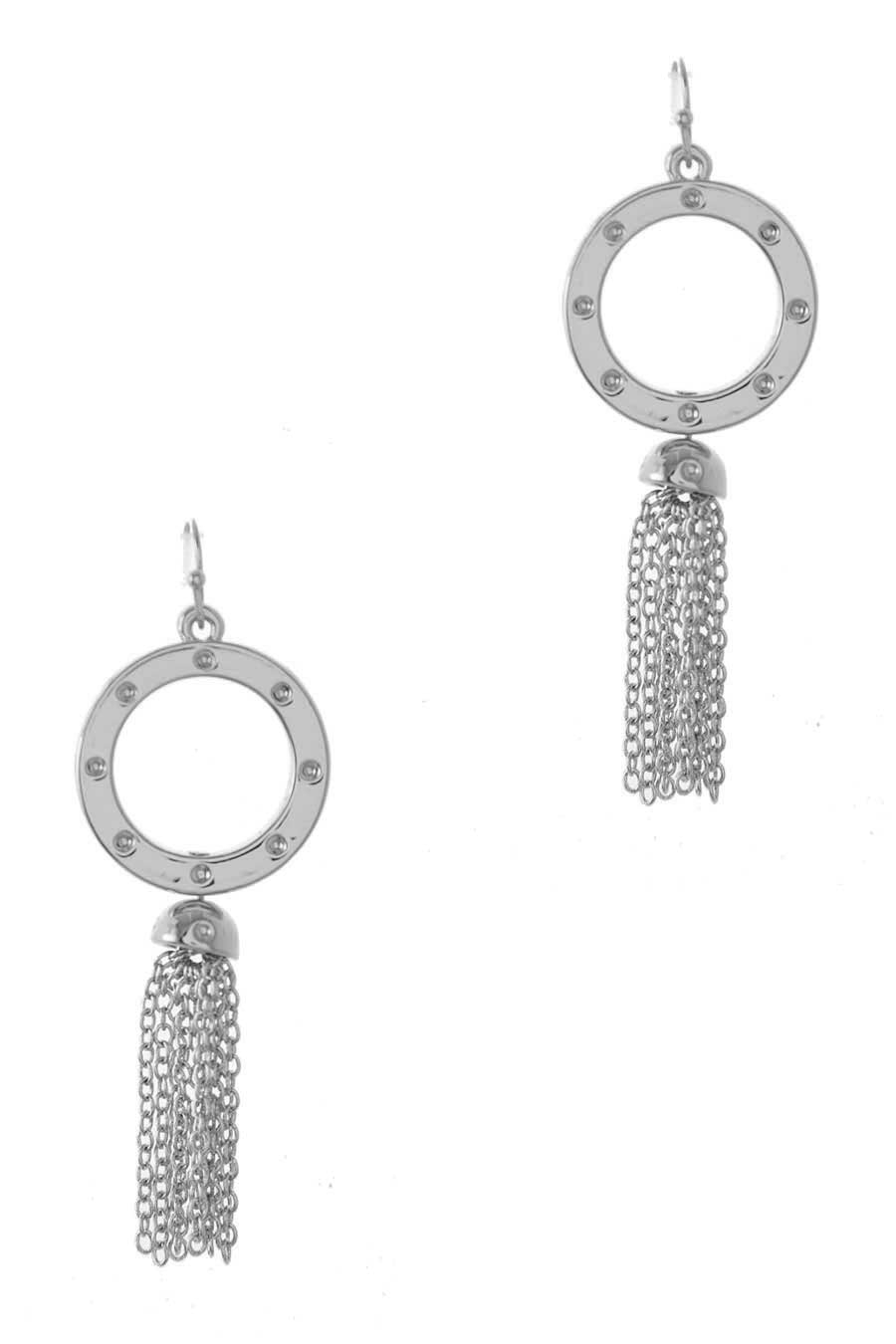 ROPE WITH CHAIN TASSEL EARRING - orangeshine.com