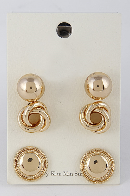 Shiny Formal Earrings Set - orangeshine.com