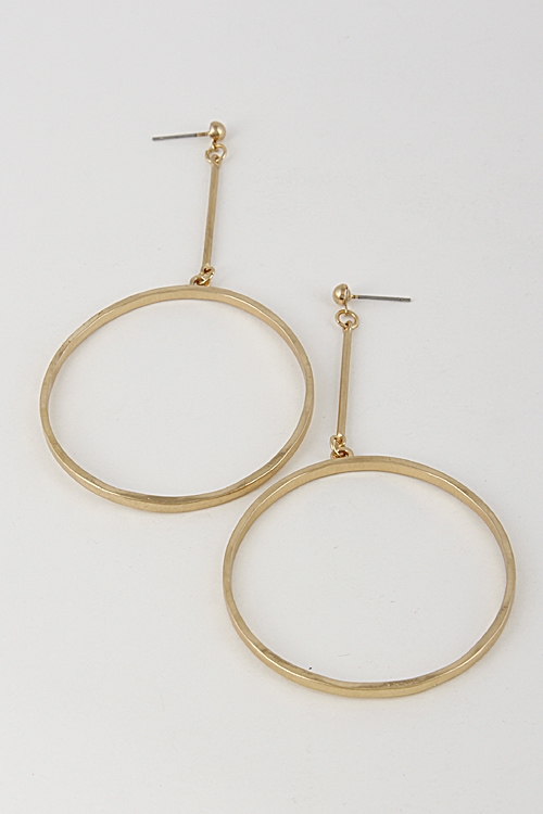 Bar Earrings with Circle - orangeshine.com