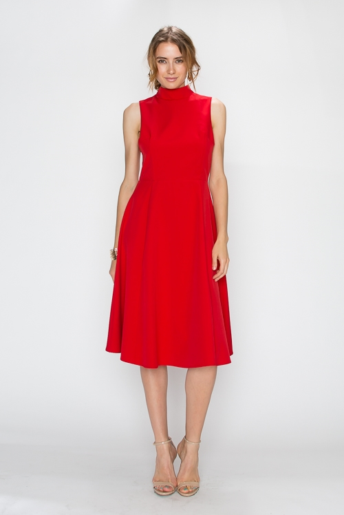 SOFT TOUCH FIT N FLARE DRESS - orangeshine.com