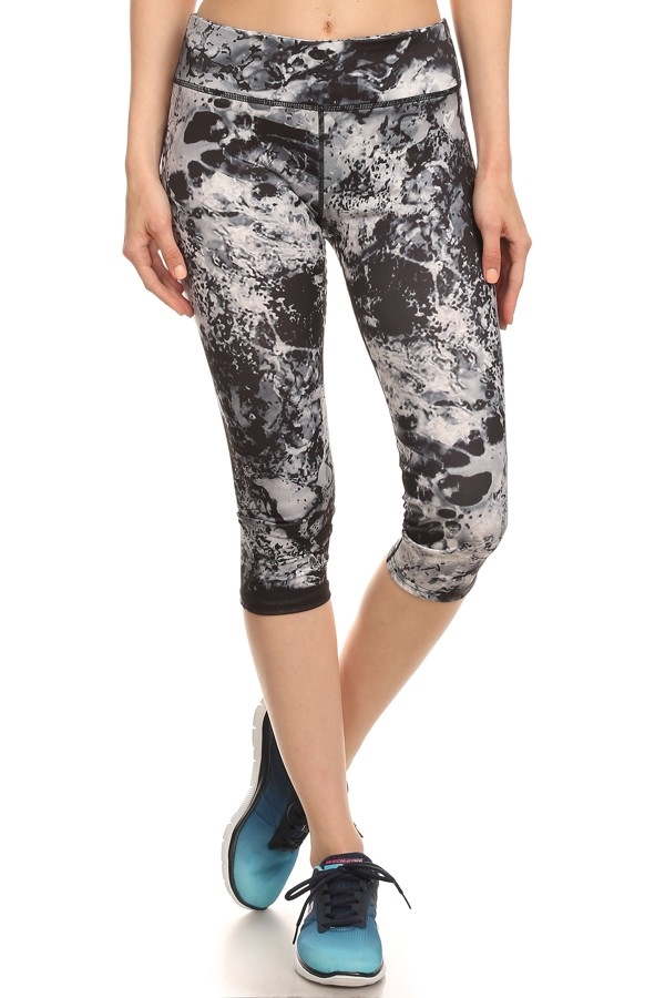 Active Tie Dye Capri Leggings - orangeshine.com
