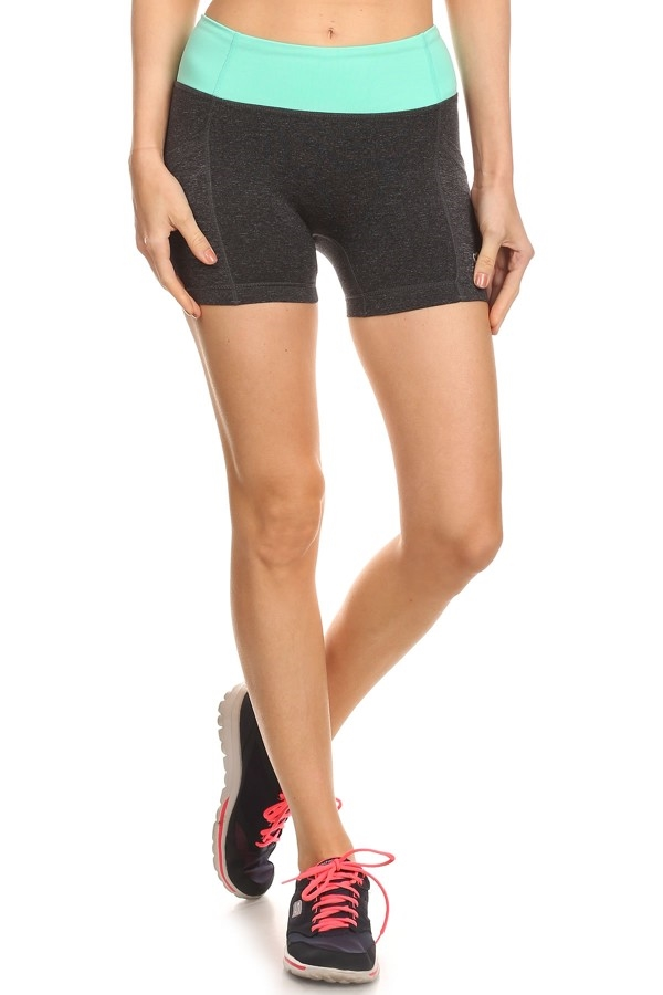 Color Block Running Shorts  - orangeshine.com
