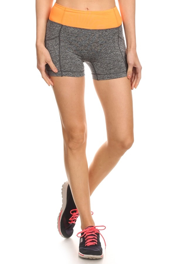 Running Shorts Grey Sport yoga - orangeshine.com