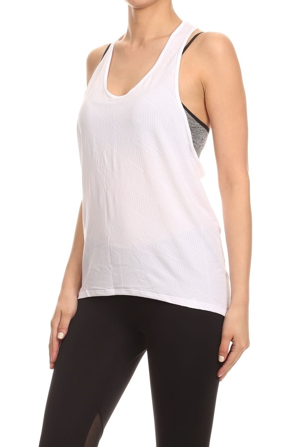 White Racer Tank Top yoga - orangeshine.com