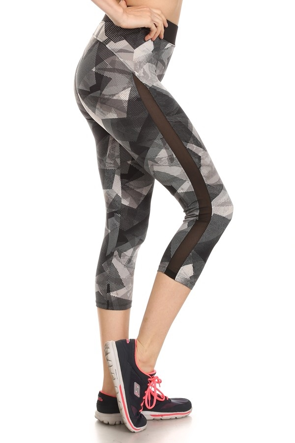 Active Leggings Side Mesh Grey - orangeshine.com