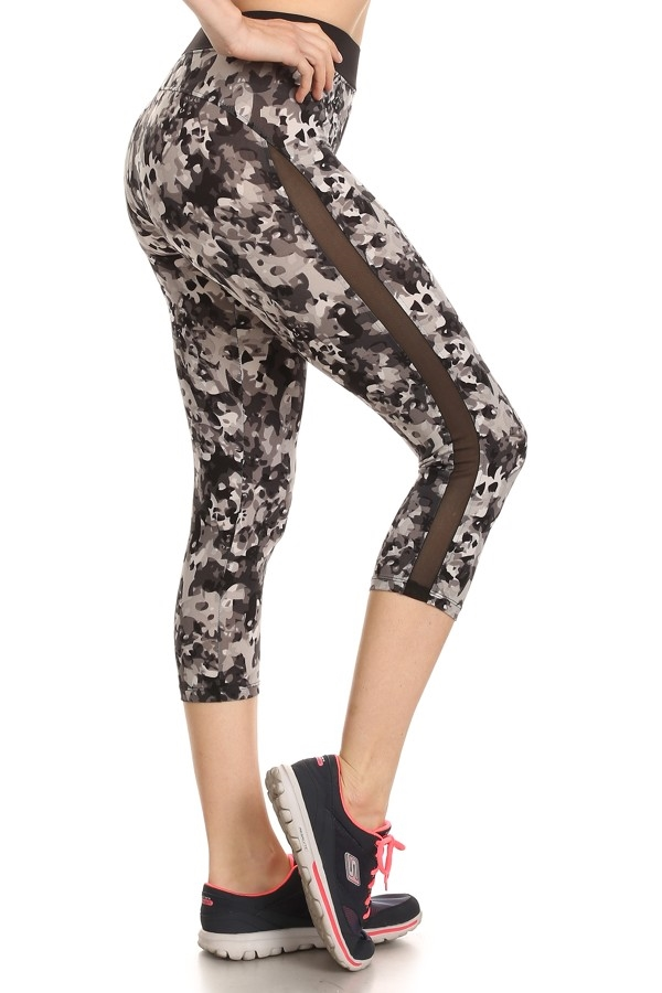 Active Capri Leggings Mesh Sid - orangeshine.com