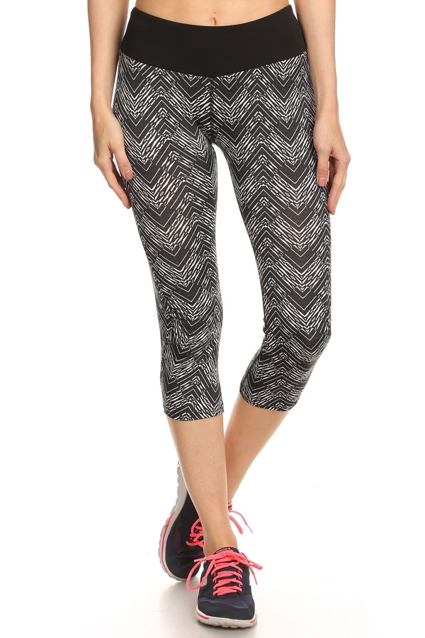 Cropped Active Legging Chevron - orangeshine.com