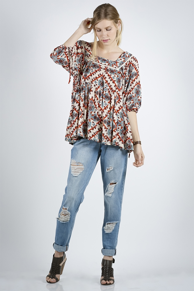 BABY DOLL YOKE  TOP - orangeshine.com