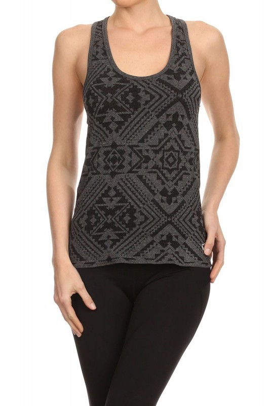 Aztec Active Tank Tops Black - orangeshine.com
