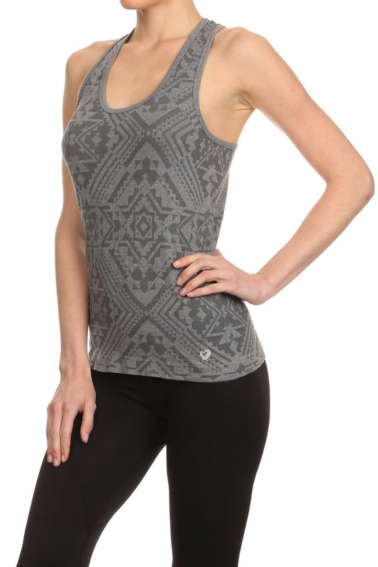 Seamless Sports Tank Tops Grey - orangeshine.com