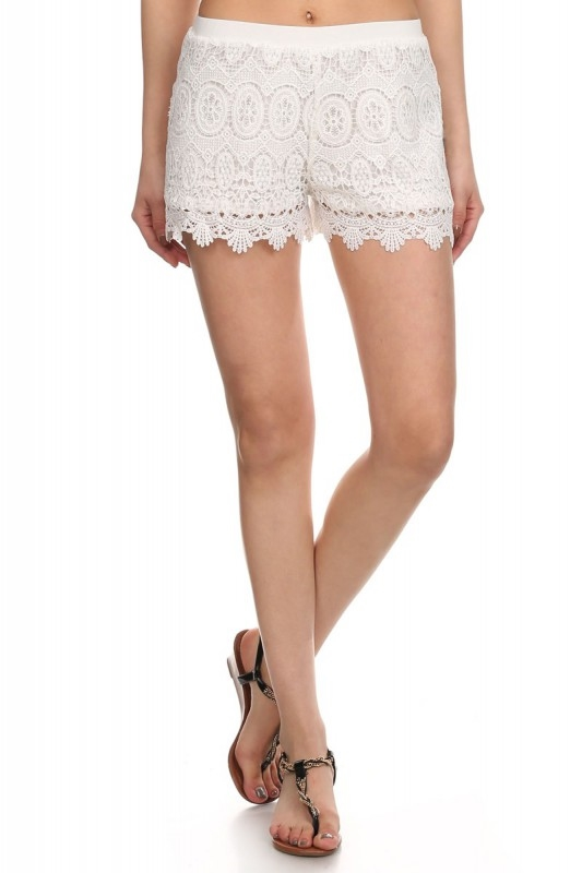 Gypsy Lace Shorts Black - orangeshine.com