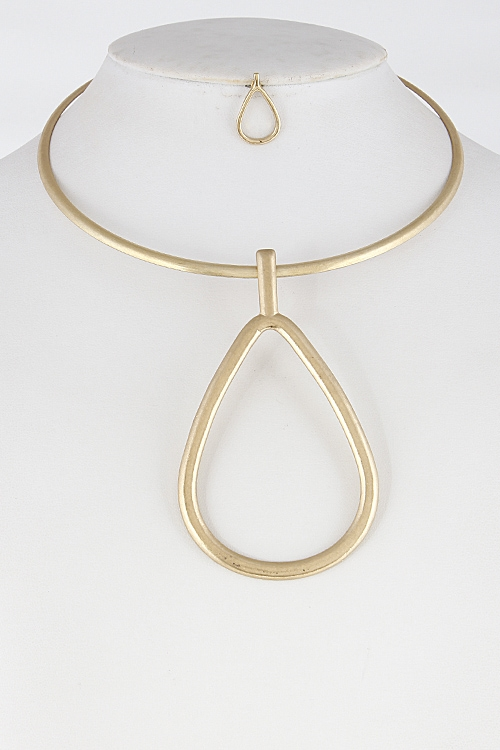 Thin Simple Tear Drop Choker - orangeshine.com