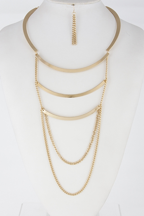 Simple Solid Drop Chain - orangeshine.com