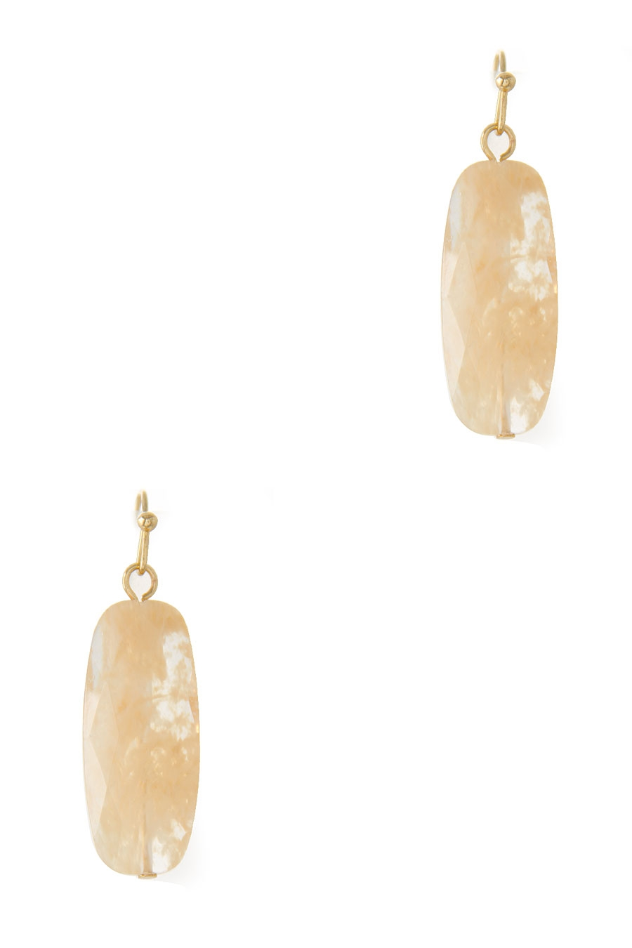 RECTANGULAR AGATE EARRING - orangeshine.com