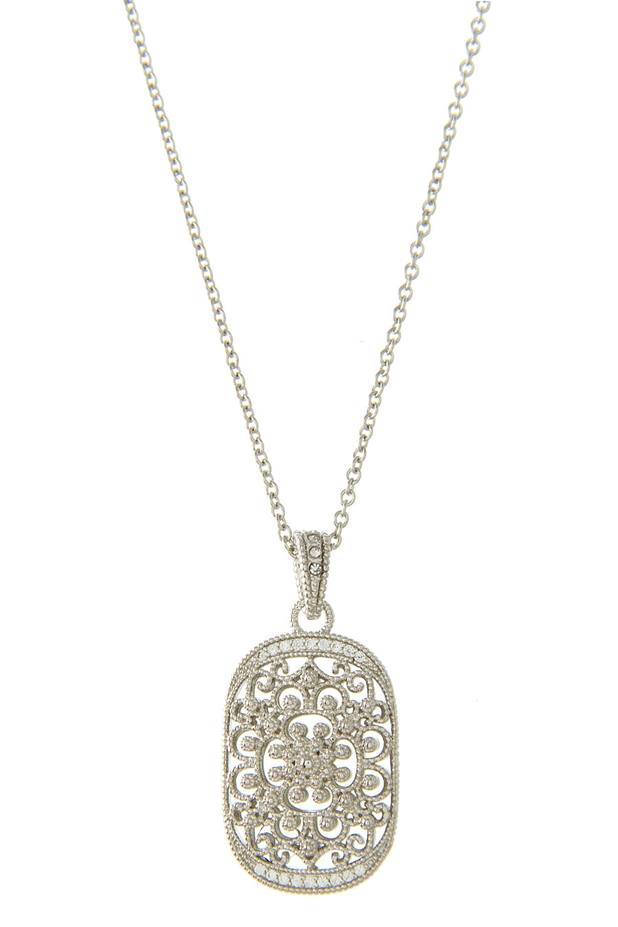 MEDALLION CZ NECKLACE - orangeshine.com