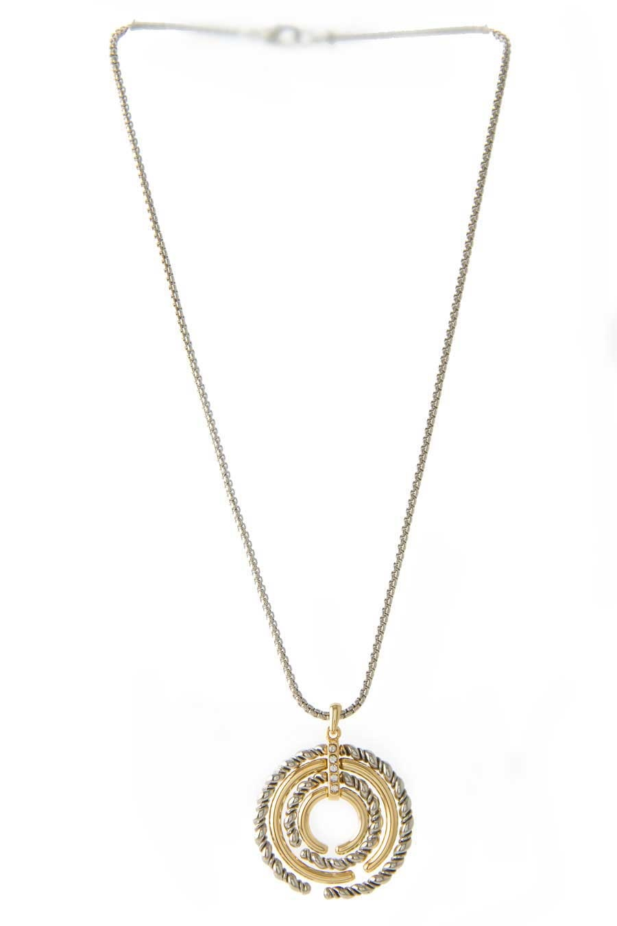 TWIST CZ  SHORT NECKLACE - orangeshine.com