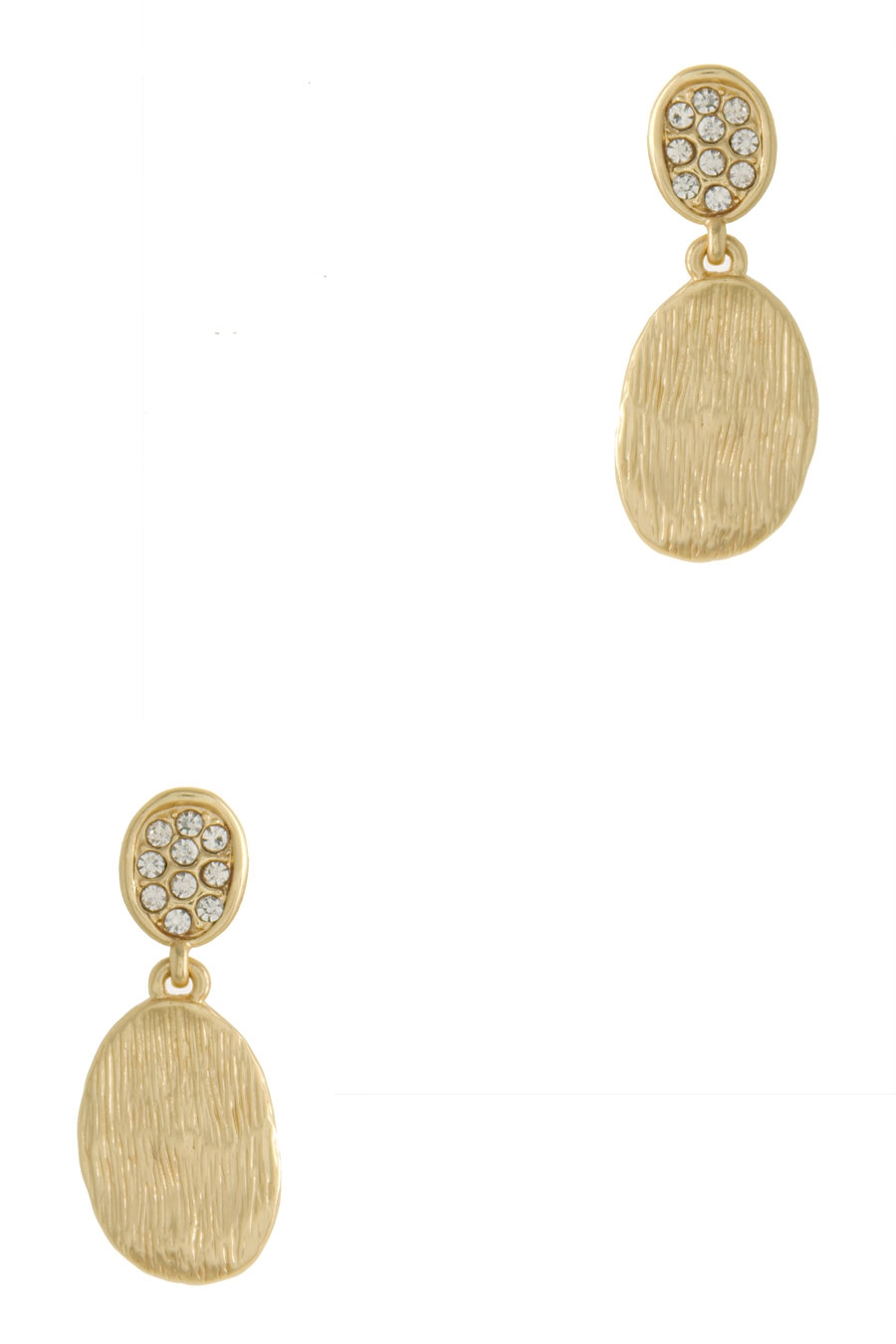 OVAL PLATE DROP EARRING - orangeshine.com