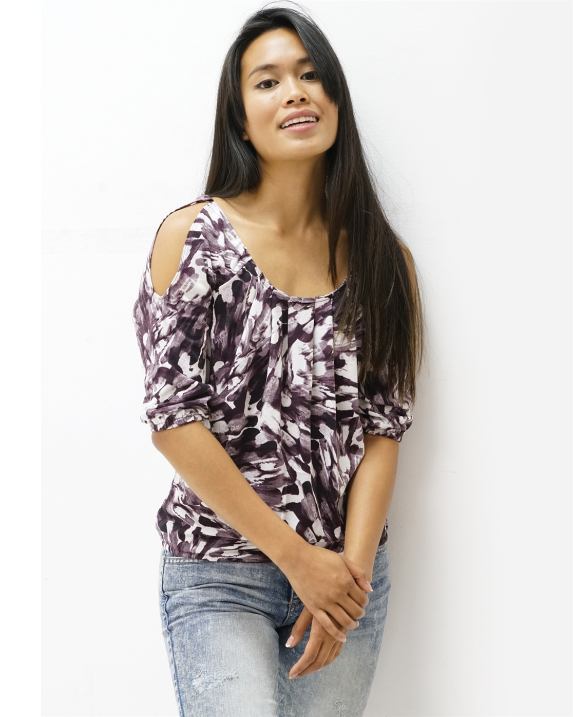 COLD SHOULDER DOMAIN TOP  - orangeshine.com